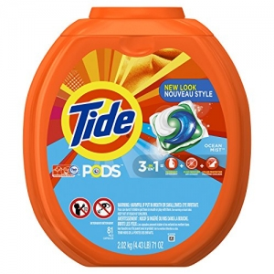 ihocon: Tide Pods 3 in 1 Liquid Detergent Pacs, Ocean Mist Scent, 81 Count