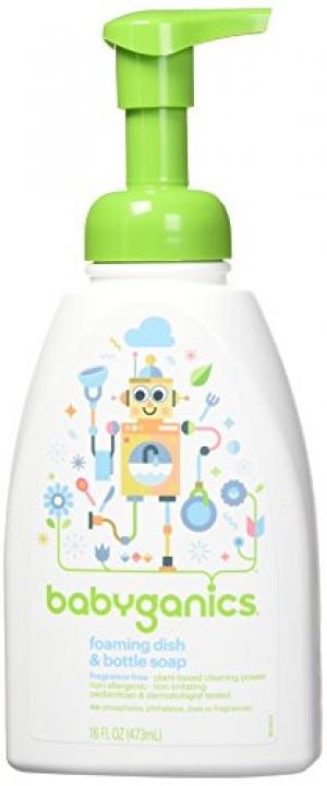 ihocon: Babyganics Foaming Dish and Bottle Soap, Fragrance Free, 16oz Pump Bottle (Pack of 3)