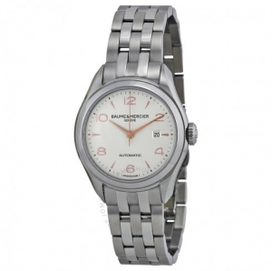 ihocon: Baume and Mercier Clifton Automatic Silver Dial Ladies Watch 10150女錶