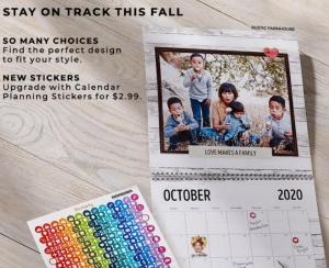 Shutterfly 送免費8×11月曆