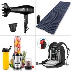 [Amazon折扣碼] 負離子吹風機, 超輕露營睡墊, Personal Blender, 相機背包 額外折扣!