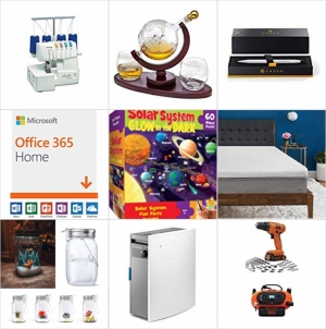 [Amazon今日特賣1]  Brother拷克機, Microsoft Office 365, 太陽能LED營燈, 無線電鑽/螺絲起子, 威士忌醒酒器, 空氣清淨機, 眼罩, 枕頭, 原子筆, 鋼筆, 特賣