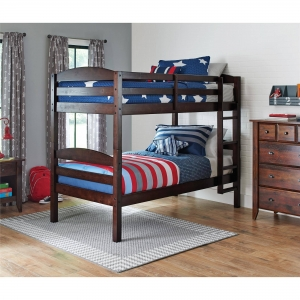 ihocon: Better Homes and Gardens Leighton Twin Over Twin Wood Bunk Bed, Multiple Finishes - Walmart.com