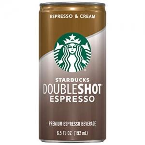 ihocon: Starbucks星巴克 Doubleshot, Espresso + Cream, 6.5 Ounce, 12 Pack