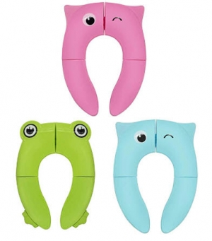 ihocon: Potty Seat Covers Luchild Baby Foldable Potty Trainer Seat Cover折疊兒童馬桶座墊