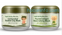 ihocon: Origin Beauty Green Piggy Clay Mask + Milky Piggy Carbonated Bubble Clay Mask(100g+100g)