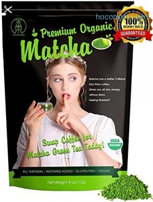 ihocon: [USDA Certified=] Cassic & Premium Organic Matcha Green Tea Powder 113g(4oz)有機抹茶粉
