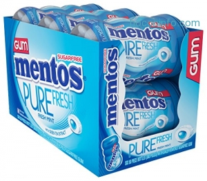 ihocon: Mentos Pure Fresh Sugar-Free Chewing Gum with Xylitol, Fresh Mint, Easter Basket Candy, 50 Piece Bottle (Pack of 6)