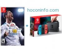 ihocon: Nintendo Switch Console with Bonus FIFA 18 Game