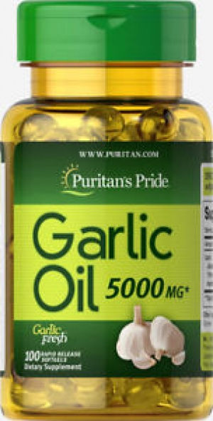 ihocon: Puritan's Pride Garlic Oil 5000 mg - 100 Rapid Release Softgels 大蒜油 100粒
