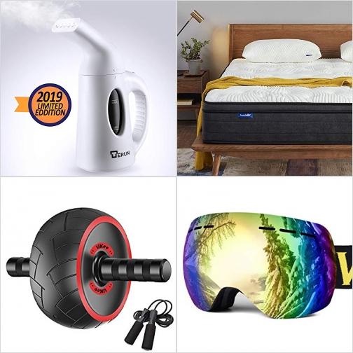 [Amazon折扣碼] 蒸氣熨斗, 凝膠記憶棉床墊, 運動滾輪及握力器, 滑雪護目鏡 額外折扣!