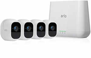 ihocon: Arlo Pro 2 Home Security Camera System (4 pack) with Siren, Wireless, Rechargeable, 1080p HD, Audio, Indoor or Outdoor, Night Vision, Works with Amazon Alexa 智能居家防盜攝像系統(4個鏡頭), 含警報器, 充電式-可與Amazon Alexa協作