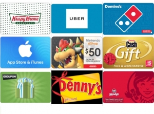 Uber, Nintendo任天堂, Groupon, iTunes, Wendy's, Domino's, Krispy Kreme…禮卡特價