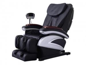 ihocon: BestMassage BM-EC06C Electric Full Body Shiatsu Massage Chair Recliner with Stretched Foot Rest - Black 全身指壓按摩椅