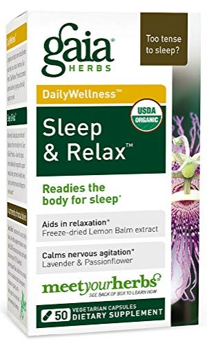ihocon: Gaia Herbs Sleep & Relax, Vegan Capsules, 50 Count - Organic Non-Habit Forming Herbal Sleep Aid, Valerian Root, Lavender, Lemon Balm  有機睡眠和放鬆劑