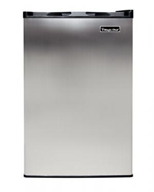 ihocon: Magic Chef MCUF3S2 3.0 cu. ft. Upright Freezer in Stainless Steel 不銹鋼立式冷凍櫃