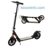 ihocon: Ancheer Adult Kick Scooter with Hand Brake and Dual Suspension成人滑板車,含手剎車系統