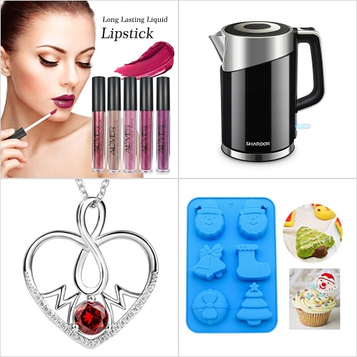 [Amazon折扣碼] 持久防水唇蜜, 不銹鋼電熱水瓶, 純銀mom項鍊, 矽膠烤盤 額外折扣!
