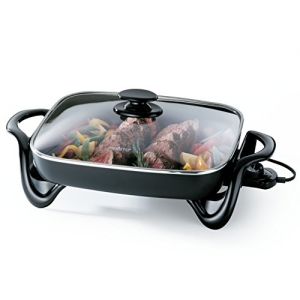 ihocon: Presto 06852 16-Inch Electric Skillet with Glass Cover 含蓋電煎鍋
