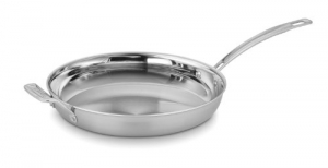 ihocon: Cuisinart MCP22-30HN MultiClad Pro Stainless 12-Inch Skillet不銹鋼12吋長柄鍋