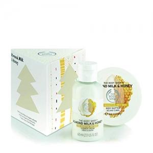 ihocon: The Body Shop Almond Milk and Honey Treats Cube Gift Set, 2pc