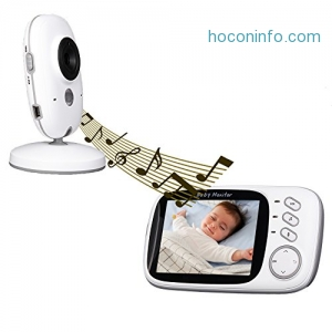 ihocon: Baby Monitor 3.2inch LCD Display Video Baby Monitor with Night Vision and Temperature Monitoring and Lullabies嬰兒監看器