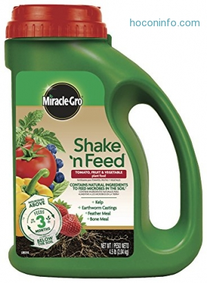 ihocon: Miracle-Gro 3002610 Shake 'N Feed Tomato, Fruits and Vegetables Continuous Release Plant Food Plus Calcium 番茄, 水果, 蔬菜肥料