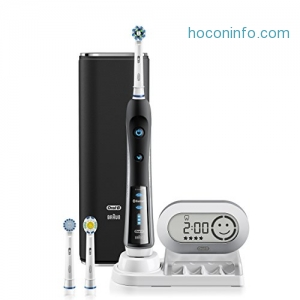 ihocon: Electric Toothbrush, Oral-B black 7000 SmartSeries Electronic Power Rechargeable Toothbrush with Bluetooth Connectivity Powered by Braun