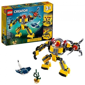 ihocon: [2019新款] LEGO Creator 3in1 Underwater Robot 31090 Building Kit , New 2019 (207 Piece)