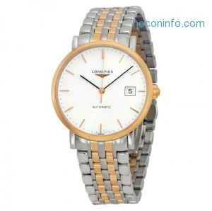 ihocon: LONGINES Elegant White Dial Two-tone Steel Watch Item No. L4.810.5.12.7