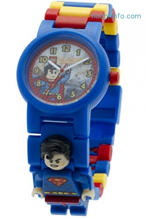 ihocon: LEGO DC Comics 8020257 Super Heroes Superman Kids Minifigure Link Buildable Watch樂高童錶
