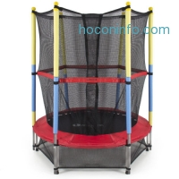 ihocon: 55 Round Kids Mini Trampoline w/ Enclosure Net 兒童彈跳床+防護網