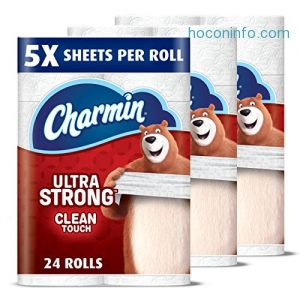 ihocon: Charmin Ultra Strong Toilet Paper, Family Mega Roll (5x More Sheets*), 24 Count