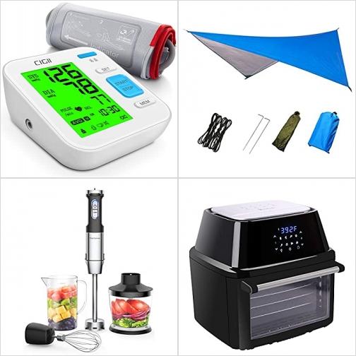 [Amazon折扣碼] 上臂血壓計, 室外遮陽布, 手持Blender, 氣炸鍋 額外折扣!