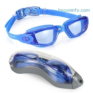 ihocon: Aegend Swim Goggles, No Leaking Anti Fog UV Protection游泳蛙鏡