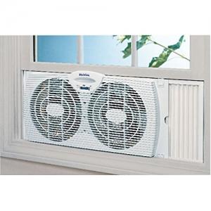 ihocon: Holmes Dual Blade Twin Window Fan, White窗上型電扇