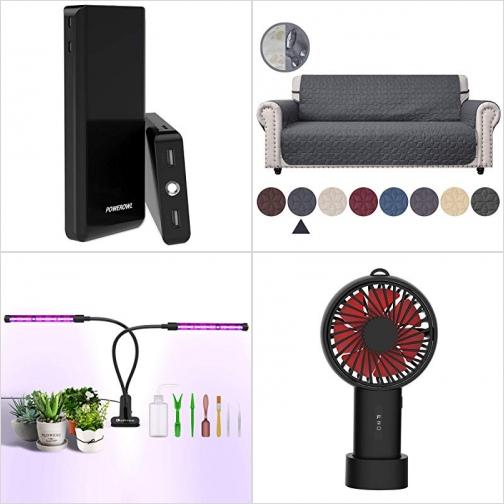 [Amazon折扣碼] 20000mAh行動電源/充電寶, 沙發保護罩, 植物生長燈, 手持小風扇 額外折扣!