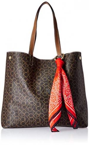 ihocon: Calvin Klein Rachel Monogram Bandana Print Scarf Tote 領巾手提包