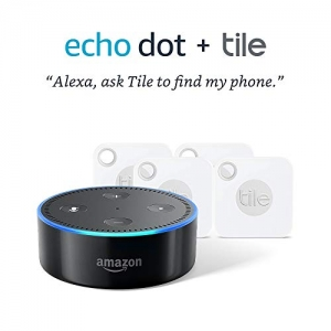 ihocon: Tile Mate with Replaceable Battery (4-Pack) + Echo Dot (2nd Gen)
