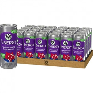 ihocon: V8 +Energy, Juice Drink with Green Tea, Pomegranate Blueberry, 8 oz. Can (Pack of 24) 飲料