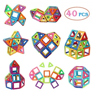 ihocon: Manve 40 Pcs Magnet Building Tiles Clear Magnetic 3D Building Blocks Construction Playboards - Creativity Beyond Imagination, Inspirational, Recreational, Educational, Conventional  40 磁鐵建築瓷磚清除磁性3積木建築遊戲板 - 創造力超越想像力,鼓舞人心,娛樂,教育,傳統