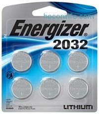 ihocon: Energizer 3 Volt Watch Batteries, Lithium 3v CR2032 Battery (6 Count)