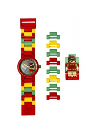 ihocon: Lego Batman Movie 8020868 Robin Kids Minifigure Link Buildable Watch樂高童錶
