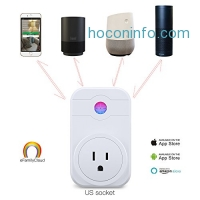 ihocon: [不在家也能遙控電器] Wireless Socket Outlet Switch Timer, Works with Amazon Alexa Google Assistant IFTTT 智能插座