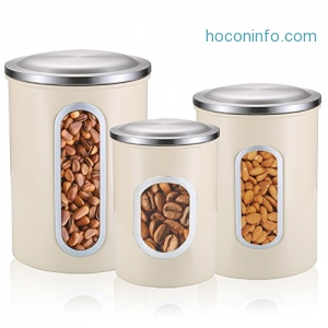 ihocon: Stainless Steel Canister Set, 3 Piece不銹鋼食物收納罐