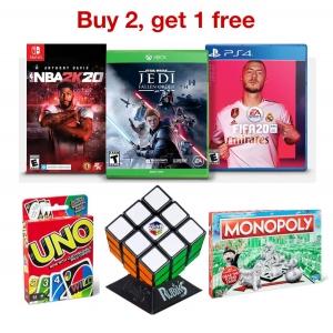Target: 電玩video games 及 桌遊 買2送1