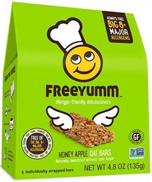 ihocon: Allergen Free Honey Apple Oat Bars, Safe for School Allergy Friendly Snack Food for Kids, Total of 15 Bars 安全不過敏蜂蜜蘋果燕麥點心