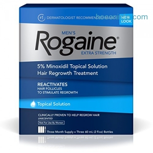 ihocon: Men's Rogaine Hair Loss and Hair Regrowth Treatment, Minoxidil Topical Solution, Three Month Supply, (Pack of 3)男士落建生髮水