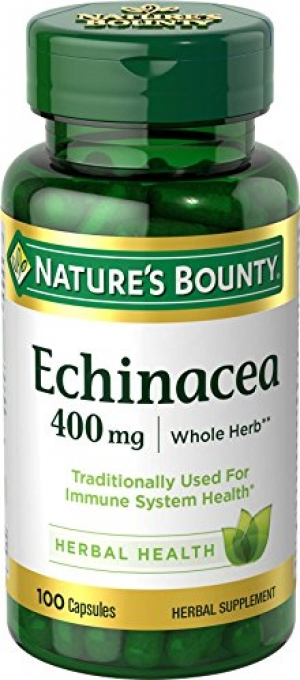 ihocon: [提升免疫力, 預防感冒] Nature's Bounty Echinacea 400 mg Natural, 100 Capsules