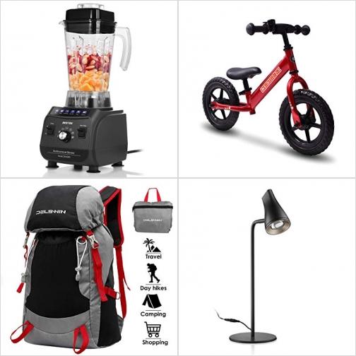 [Amazon折扣碼] 專業果汁機, 2輪平衡車, 輕便可折疊收納背包, LED桌燈 額外折扣!